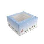 4 Cupcake Box-Winter Scene with Window