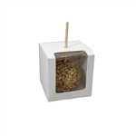White Candy Apple Boxes with Window