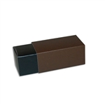 2 Truffle Candy Boxes in Black with Pewter Sleeves