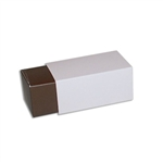 2 Truffle Candy Boxes in Brown with Pink Sleeves