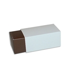 2 Truffle Candy Boxes in Brown with White Sleeves