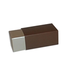 2 Truffle Candy Boxes in Champagne with Brown Sleeves