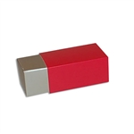 2 Truffle Candy Boxes in Champagne with Red Sleeves