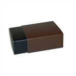 4 Truffle Candy Boxes in Black with Brown Sleeves
