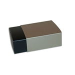 4 Truffle Candy Boxes in Black with Champagne Sleeves