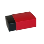 4 Truffle Candy Boxes in Black with Red Sleeves