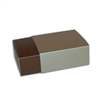 4 Truffle Candy Boxes in Brown with Champagne Sleeves