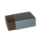 4 Truffle Candy Boxes in Brown with Pewter Sleeves