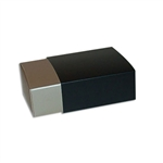 4 Truffle Candy Boxes in Champagne with Black Sleeves