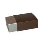 4 Truffle Candy Boxes in Champagne with Brown Sleeves