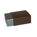 4 Truffle Candy Boxes in Pewter with Brown Sleeves