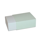 4 Truffle Candy Boxes in White with Pistachio Sleeves