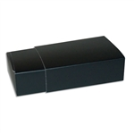 6 Truffle Candy Boxes in Black with Black Sleeves