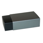 6 Truffle Candy Boxes in Black with Pewter Sleeves