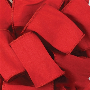 Offray Wire Edge Anisha Ribbon - 250 Red