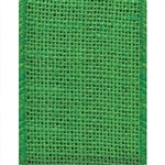 Offray Wired Burlap Ribbon Apple Green