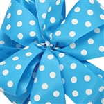 Offray Eloise Dots ribbon Turquoise
