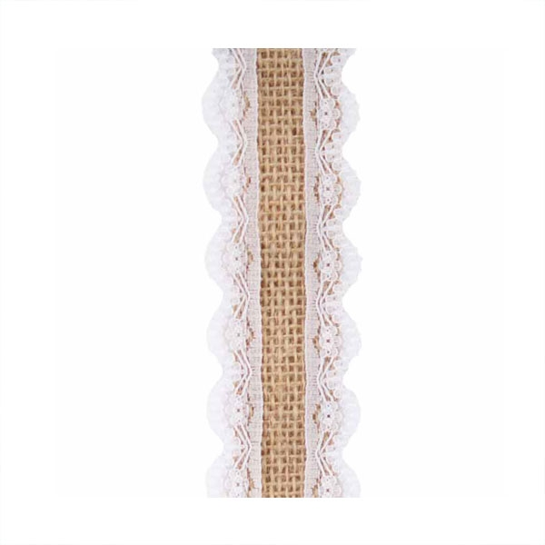 Thelma burlap with lace ribbon for How to use burlap ribbon