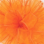 "Offray Wired Sensation Ribbon Orange 1-1/2"", or 2-1/2"" x 50 Yards"