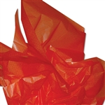 "Tangerine 2 Sided Waxed Tissue Paper - 24"" x 36"""