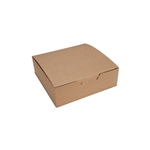 1 lb. Kraft Square 1 Piece Boxes