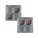 3 oz. Square Plastic Tray Silver-Fits 4 Cavities