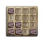 16 oz. gold plastic tray-16 Cavity Tray
