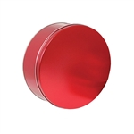 "7-3/16"" Round Sweet Red Tins"