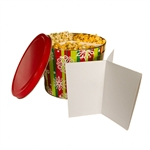 2 Gallon Popcorn Tin Divider - Y Shape for 3 Flavors