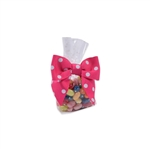 4 oz. Clear candy bags with white dots