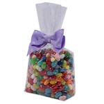 2 lb. Clear candy bags with white dots