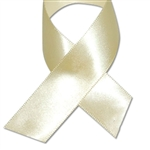 Double Face Satin Ribbon - Eggshell