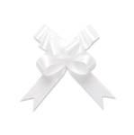 White Single Face Satin Bow Magic Butterfly Bows