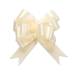 Ivory Single Face Satin Bow Magic Butterfly Bows