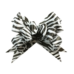 Zebra Black/White Bow Magic Butterfly Bows