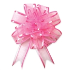 Pink Sheer Pom Pom Pull Bows Bow Magic