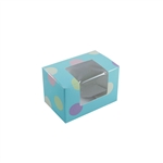 1/4 lb. Turquoise Polka Dots-Easter Egg Boxes