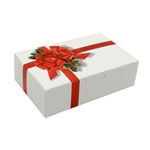 1-1/2 lb. Ribbon N' Holly Pattern Chocolate Boxes