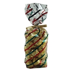 1 lb. 2.5 Mil Soft Bottom Cello Bags - Red & Green Stripes