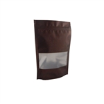 Small Brown Zipper Pouches