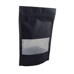 Large Black Zipper Pouches