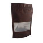 Large Brown Zipper Pouches