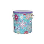 One Gallon Popcorn Tin Pail - Flower Blossom
