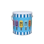 One Gallon Popcorn Tin Pail - Summer