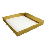 16 oz. Square Gold Lustre Candy Box Bases