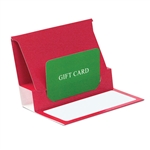 Red Reflections Presentation Pop Up Gift Card Folders