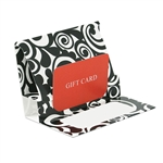 Bold Scroll Presentation Pop Up Gift Card Folders