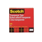 "Scotch Transparent Tape - 3M 1/2"" x 72 Yards"