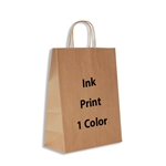 1 Color Ink-Printed Antelope Kraft Paper Shopping Bag