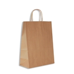 "100% Recycled Kraft Paper Shopping Bag Antelope: 10"" x 5""  x 13""-250 Bags/Case"